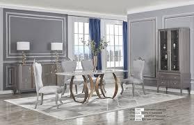 luxus esszimmer designer italy möbel garnitur design 7tlg set tisch 6 stühle