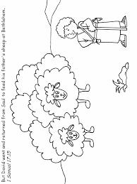 Coloring Page David As Boy