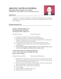 Wonderful Sample Resume For Ojt Computer Science Students Also Puter