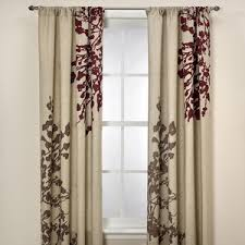 Kas Australia Kas Leura 63 Inch Window Curtain Panel in Plum