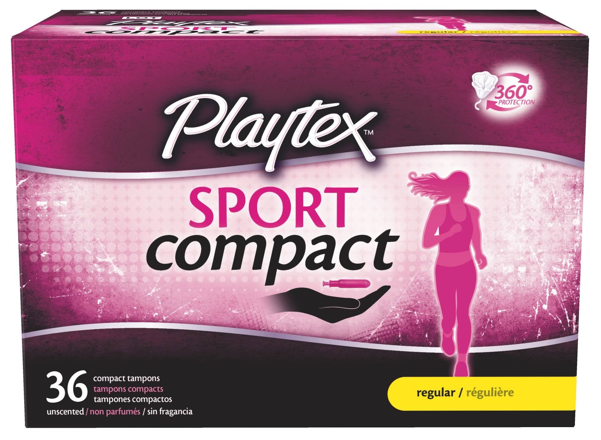 Playtex Sport Regular Absorbency Compact Tampons - 36ct