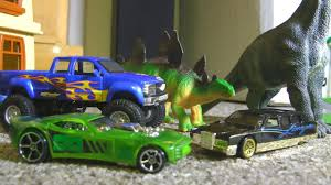 100 Dinosaur Monster Truck Hot Wheels S And S TOY CARS Action YouTube