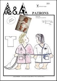 robe de chambre bébé 18 mois patron de couture peignoir bébé enfant a a patrons
