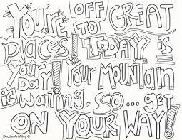 Graduation Coloring Pages Doodle Art Alley Download