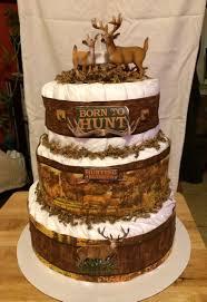 Hunting Theme Diaper Cake