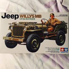1:35 Scale Willys Jeep By Tamiya. All Parts And Instructions - Depop