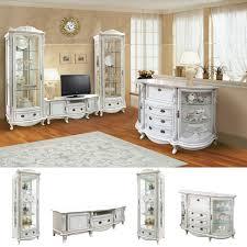 louis wohnzimmer möbelset barock rokoko massivholzmöbel weiß