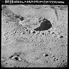 Aerial View Of The RAF Fauld Explosion Crater 4 December 1944