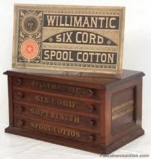 willimantic walnut 4 dwr spool cabinet lot 149