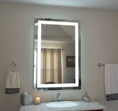 lights lighted makeup mirror wall mounted hardwired mount