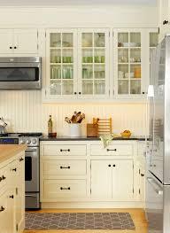 Beadboard backsplash butcherblock kitchen traditional with glass