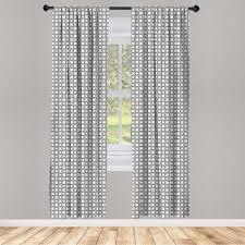 gardine fensterbehandlungen 2 panel set für wohnzimmer schlafzimmer dekor abakuhaus geometrisch ringe mit kurven kaufen otto