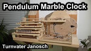 pendulum rolling ball clock en homemade 100 mechanical marble