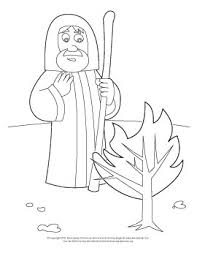 Coloring Page Moses And The Burning Bush