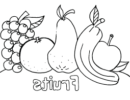 Printable Fruit Coloring Pages For Of