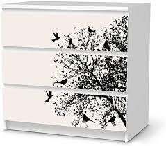 creatisto möbel passend für ikea malm kommode 3 schubladen i möbelsticker möbel sticker aufkleber folie i innendekoration für esszimmer