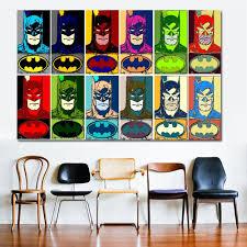 100 Pop Art Bedroom Batman Twelve Panel Pop Art By Thegreatdevin Cartoon Superhero Batman Canvas Painting Kids Boy Wall Decor