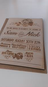 Rustic Wedding Invitation Floral Detail Wood By Therusticatheart