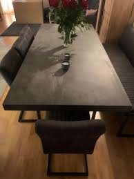 tisch aus fliesen tisch betonoptik möbel betonoptik