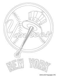 New York Yankees Logo Mlb Baseball Sport Coloring Pages Print Download 273 Prints