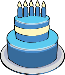 Blue birthday cake clipart 3