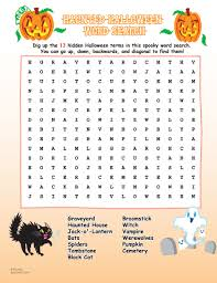 Haunted Halloween Crossword Puzzle Answers by 100 Halloween Word Worksheets 17 Best Images About October