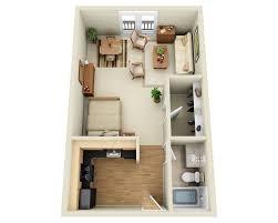 100 Small One Bedroom Apartments 1 Studio Apartment Floor Plan Modera Ballard
