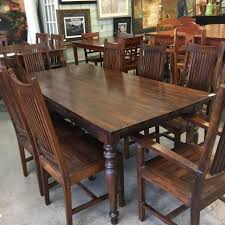 """6'6"""" X 39"""" Teak Dining Table With 8... - Patina Interiors 