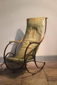 Late 19th / Early 20th Century Leather Rocking Chair - Furniture