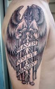 The Size Of Angel Tattoo Depends On Person He Can Get A Small Made Or Large One Some Tattoos Cover Entire