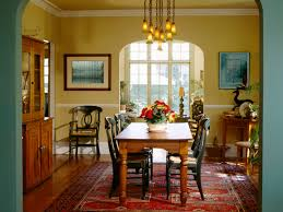 Contemporary Chandelier Inviting Dining Room