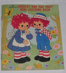 1974 HALLMARK RAGGEDY ANN AND ANDY MINI COLORING BOOK Soft Bound 22 PAGES