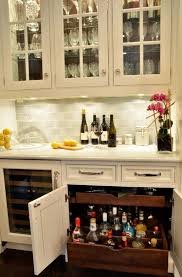 Butlers Pantry Wet Bar Cabinet Design Custom Pullouts Were Designed To Hold Liquor Bottles Upright With Adjustable Dividers Keep Them From Tipping