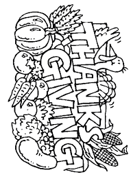 Kids Thanksgiving Coloring Pages Printable Happy