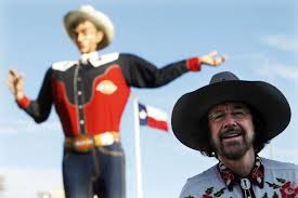 Bill Bragg Is Seen In Front Of Big Tex Before The Fire That Destroyed Icon