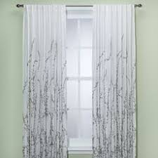Bed Bath And Beyond Semi Sheer Curtains alton print grommet top window curtain panel window curtains