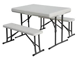 Furniture Idea: Tempting Portable Picnic Table Set & Folding ...
