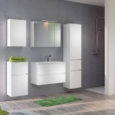bad spiegelschrank 3 türig mit beleuchtung 80 cm breit weiß