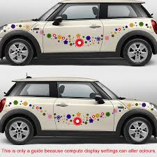 100 Mini Truck Stickers Free Shipping Colorful Flowers Romantic Graphic Vinyl Car Sticker