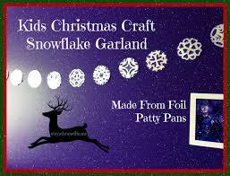 Christmas Craft For Kids Snowflake Garland
