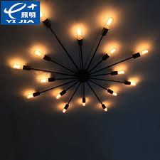 vintage spider ceiling lights for home luminaire wrought iron