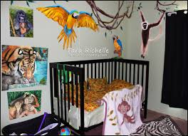 Sock Monkey Crib Bedding by Rainforest Jungle Theme Baby Nursery Toddler Room Tiger