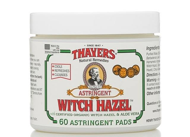Thayers Original Witch Hazel With Aloe Vera Astringent Pads - 60 Astringent Pads