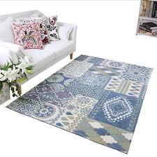 tapis pour chambre bleu style méditerranéen tapis et tapis pour la maison salon frais