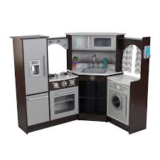 Play Kitchen Sets Walmart by Amazon Com Kidkraft Ultimate Corner Play Kitchen With Lights