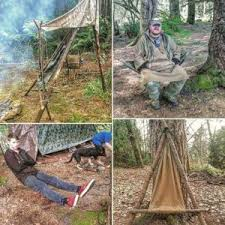 Different Examples Of The Bushcraft Camp Chair Furniture Tripod Three Poles With A Seating Bar Bipod Two Hung Between