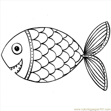 Fish Coloring Mandala PagesFree Printable