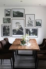 interior esszimmer bilderwand mit naturpostern by poster
