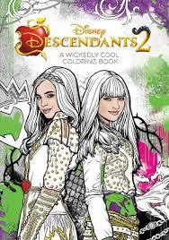 Disney Descendants 2 A Wickedly Cool Coloring Book