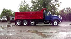 100 Tri Axle Dump Trucks MACK DUMP TRUCK TRI AXLE RD600GKmp4 YouTube